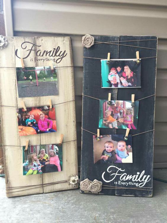 Innovative diy picture frame ideas cozy diy - Scrap wood decorated house ...